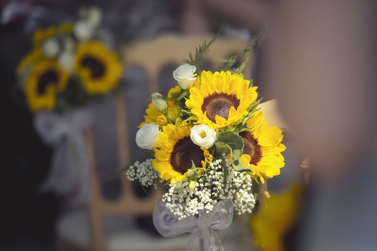 Sunflowers Lake Como Wedding
