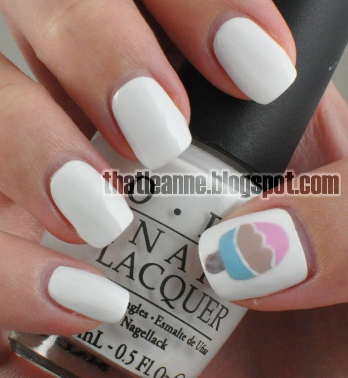 love white on nails!!