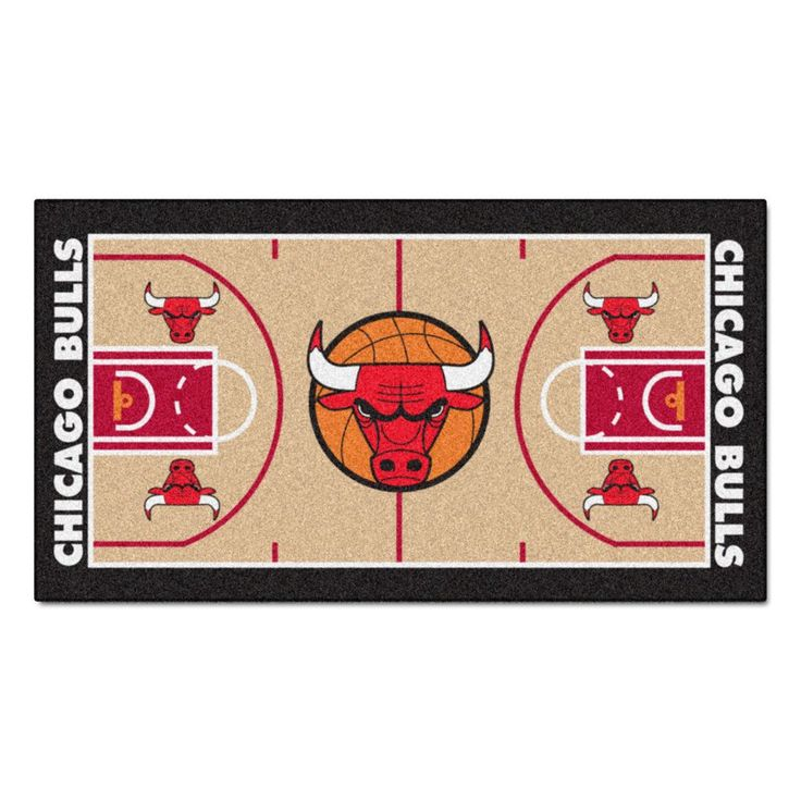 Chicago Bulls Basketball Court Runner Rug