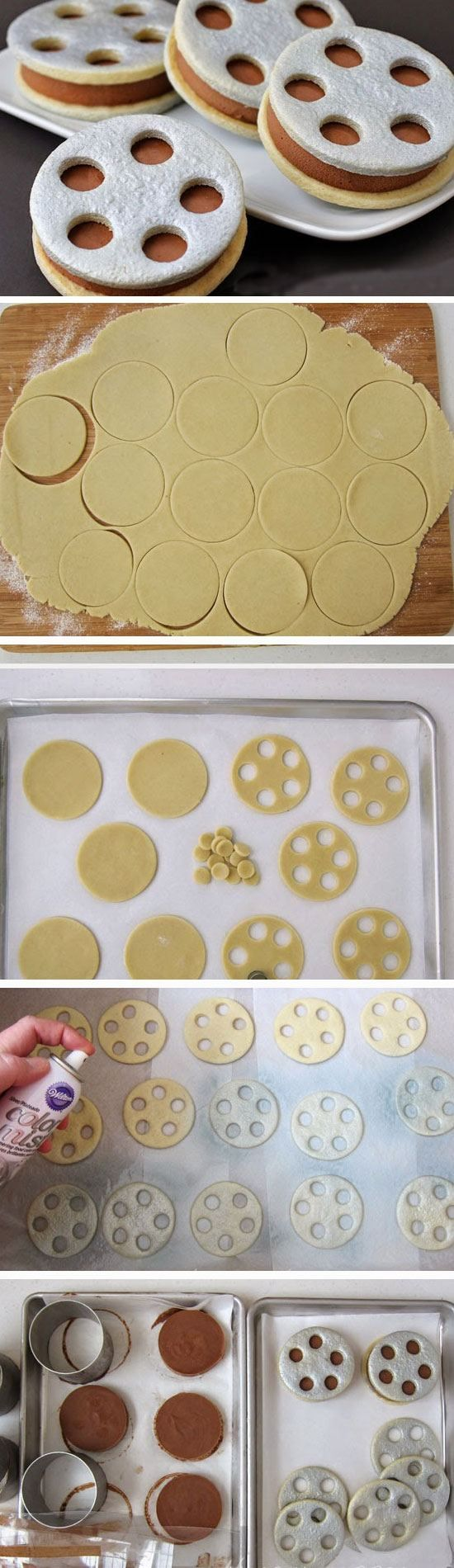Film Reel Ice Cream Sandwiches | 19 DIY Movie Night Ideas for Teens that will get the party started!