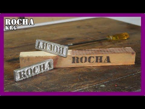 como hacer un logo para grabar madera, cuero / hot stamp (DIY) - YouTube