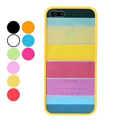 Rainbow suunnittelu Kestävä Hard Case for iPhone 5 (Assorted Colors) - USD $ 2.99