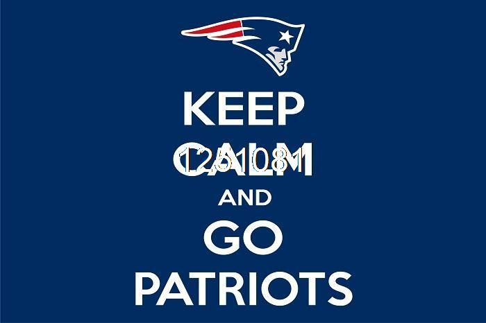 New England Patriots Сохранять Спокойствие Флаг 3ft x 5ft Полиэстер НФЛ New England Patriots Баннер Размер № 4 144*96 см QingQing Флаг