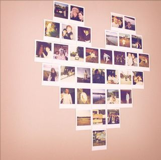 Polaroid heartDecor, Cute Ideas, Heart Shape, Photos Collage, Photos Wall, Photos Display, Diy, Polaroid Heart, Crafts