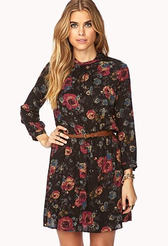 dark rose dress #dress, #floral