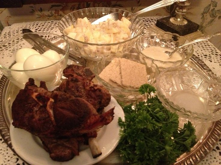 menu for jewish new year