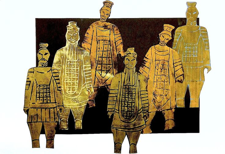 Terracotta Army printed wit foam (China)