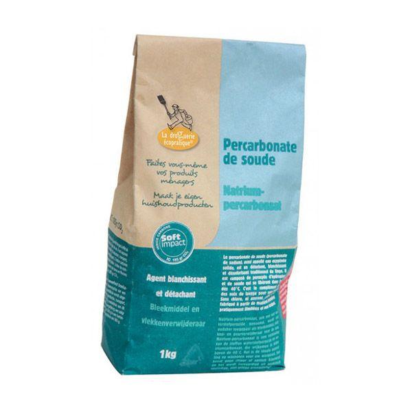 Percarbonate de Soude 1kg La Droguerie écologique | Sachet de 1kg de Percarbonate de Soude. Détache, blanchit, désinfecte et désodorise le linge. Produit naturel.