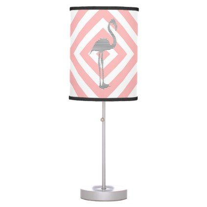 Flamingo - abstract geometric pattern - pink. table lamp - Xmas ChristmasEve Christmas Eve Christmas merry xmas family kids gifts holidays Santa
