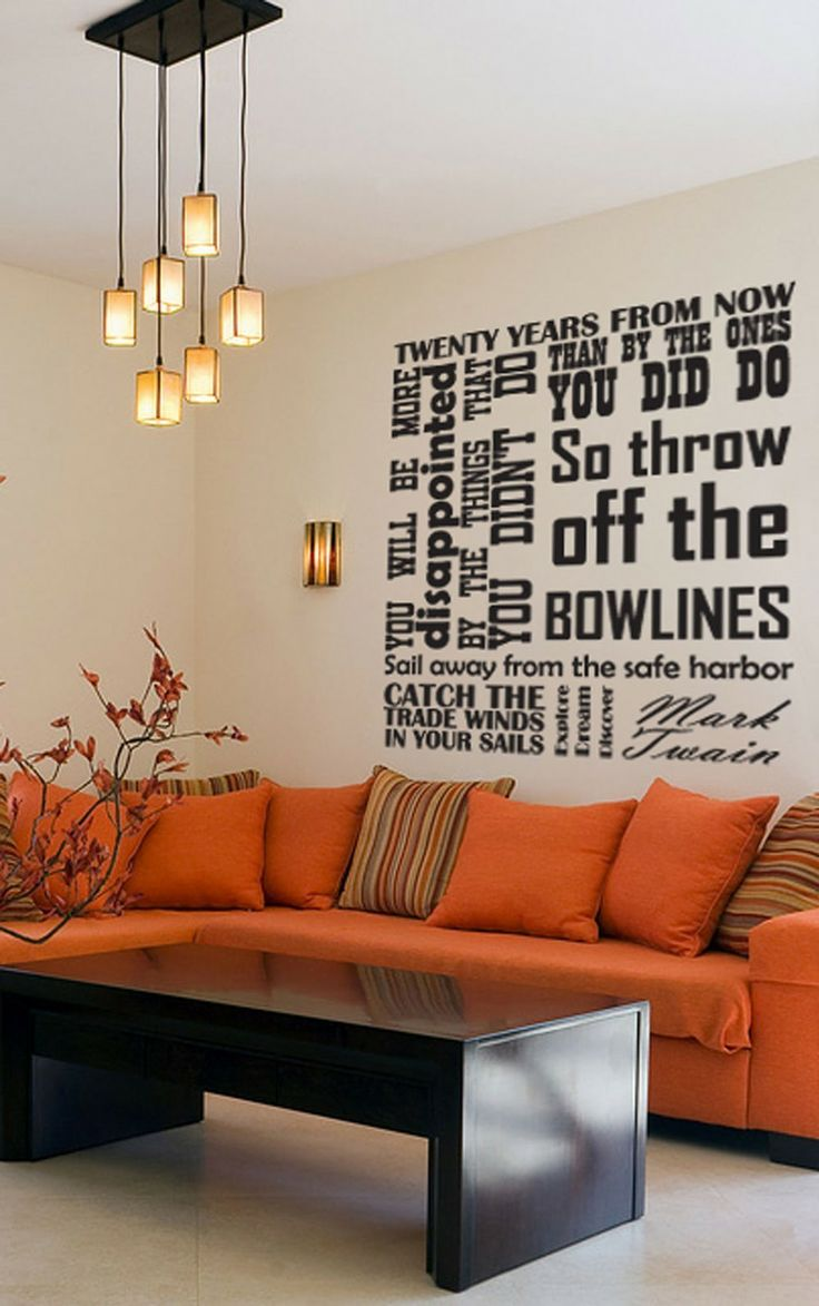 Vinyl Wall Decal - Catch the tradewinds in your sails - Quote by Mark Twain - EXTRA LARGE. $52.95, via Etsy.