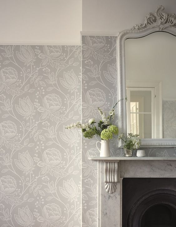 This Pebble Grey Wallpaper Design Is Called Mirabella And Is From The  Harlequin Purity Collection.
