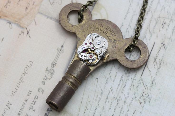 Steampunk Necklace Steam Punk Jewelry   by inspiredbyelizabeth, $45.00: Steampunk Accessories, Steampunk Stuff, Steampunk Jewelry, Steampunk Ish, Steampunk Necklaces