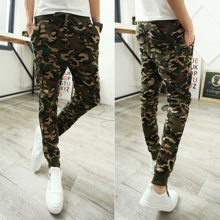 New Styles New 2016 Sweatpants For Men Camouflage Military Pants Mens Joggers Baggy Pants Men's Pants Pantalones Hombre