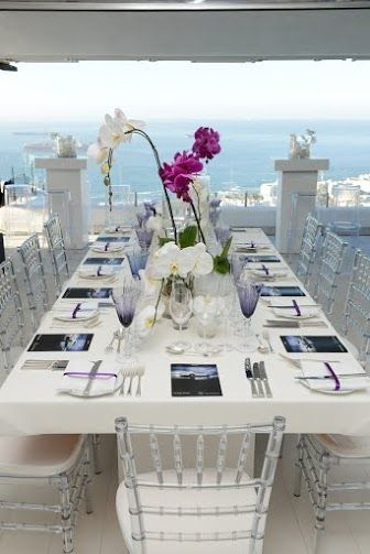 white & magenta modern decor & styling