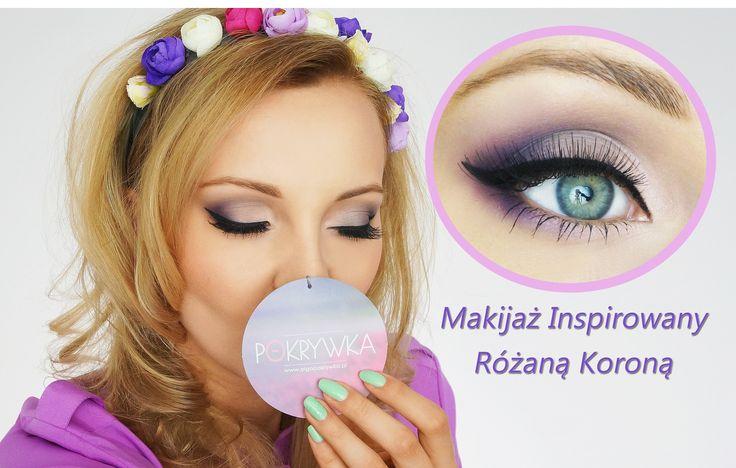 Makijaż w fiolecie.