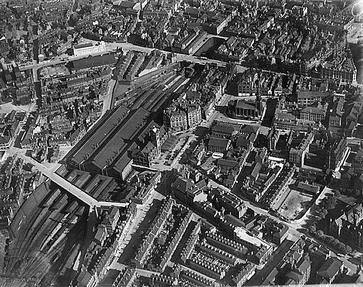 Victoria Railway Station, Nottingham, 1925.