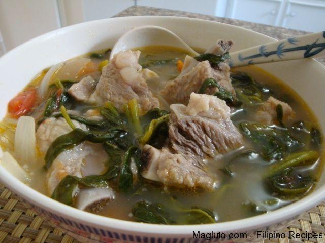 Filipino Recipe Sinigang na Baboy (Pork Spare Ribs in Sour Soup) | Magluto.com - Filipino Dishes & Recipes