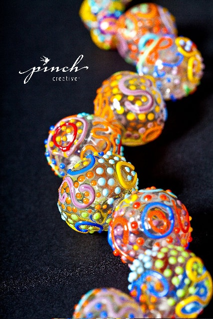 large glass hollow beads by terri kraehe