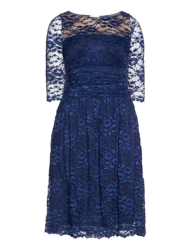 Kiyonna Kleid mit Spitze in Blau