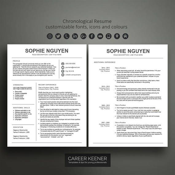 Best 25+ Chronological resume template ideas on Pinterest Resume - chronological resume example