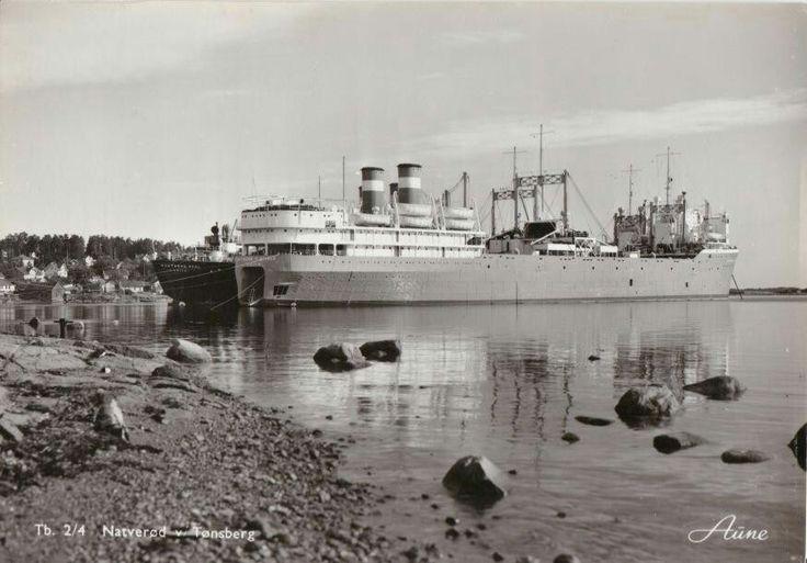 Vestfold fylke NATVERØD-TØNSBERG,BÅTER I OPPLAG 1950-tallet Utg Aune