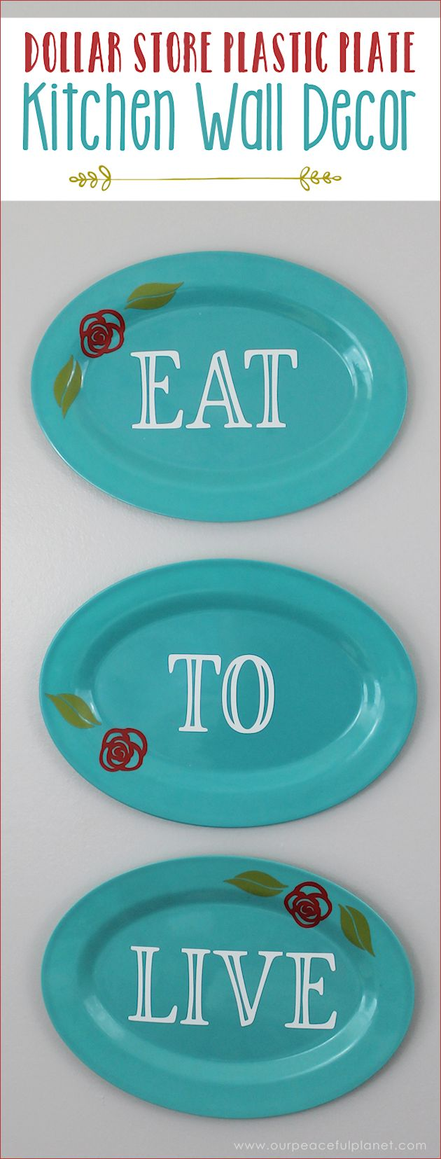 Deck the halls how to decorate on a budget family dollar - Darling Dollar Store Plastic Plate Kitchen Wall Decor