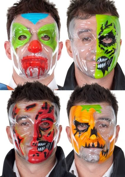 Let's Party With Balloons - Clear Plastic Face Masks, $5.00 (http://www.letspartywithballoons.com.au/clear-plastic-face-masks/)