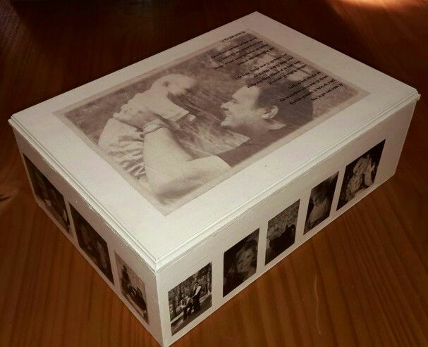Made for fathers day: box with photographs