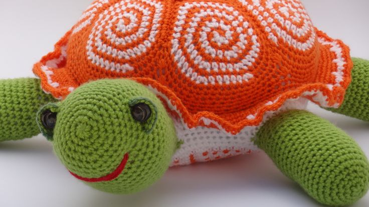 Crochet turtle! you can find the pattern with detailed written content, diagrams and photo tutorial here: http://crochetdecor.com/crochet-turtle-pattern/