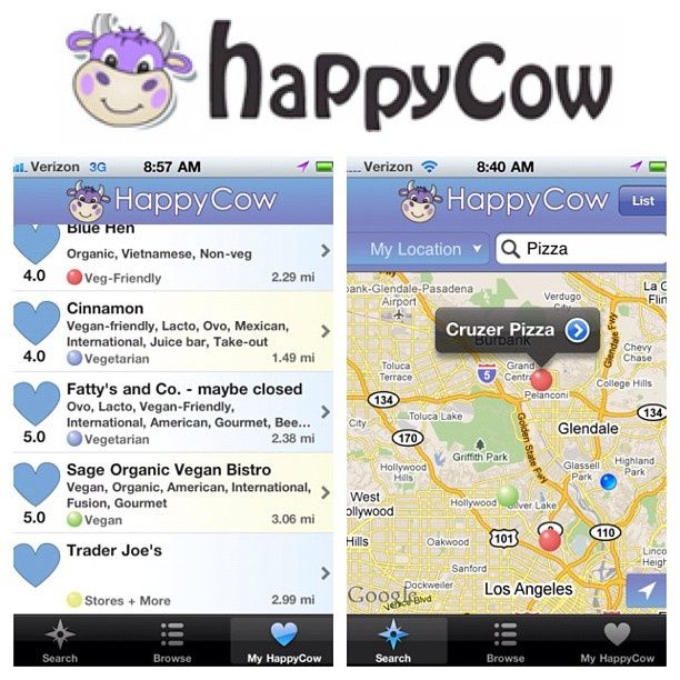 HappyCow is a worldwide database of all of the vegan, vegetarian, and veg friendly restaurants. you can visit them online at HappyCow.net or on their new app. #vegansofig