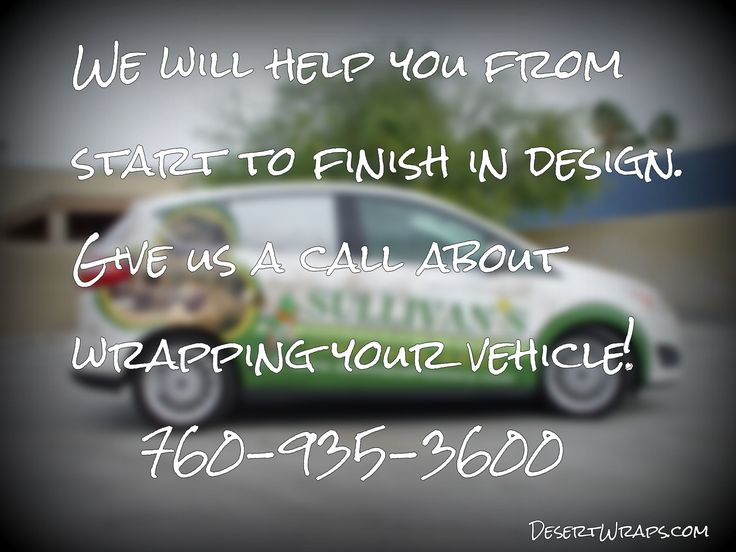From start to finish we will design a wrap that catches the eye while branding your business. We're ready to speak with you! 760-935-3600. http://www.DesertWraps.com #VehicleWrap #PalmDesert #Branding