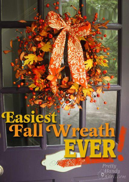 Easiest Fall Wreath EVER! - Pretty Handy Girl