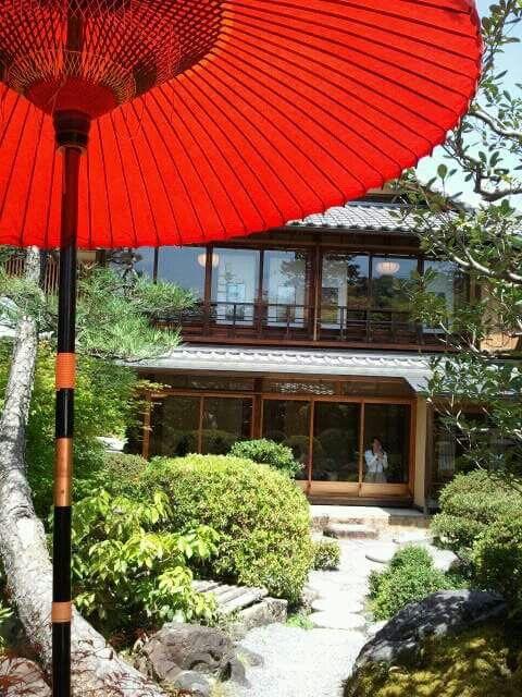 Yojiya cafe in Kyoto Japan