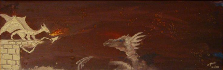 Sagesse  60x20 cm Peinture acrylique