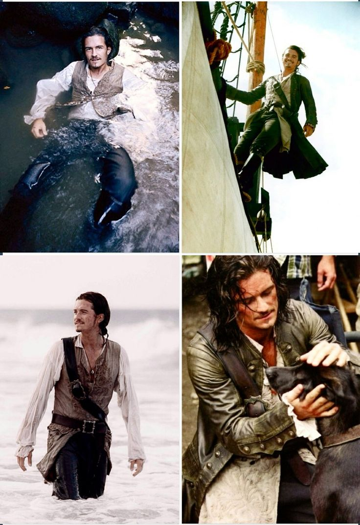 Will Turner. I had such a huge crush on this handsome fellow when I was a kid(Turner not Orlando)