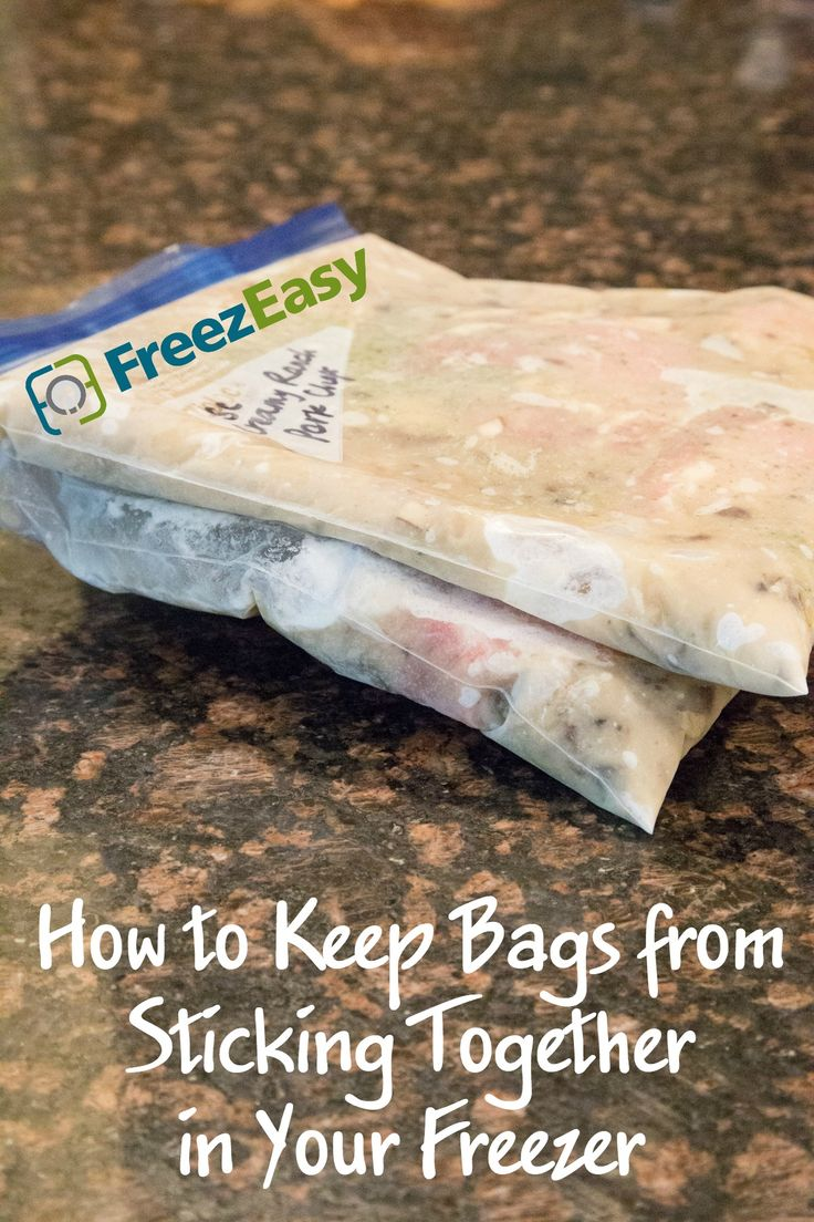 How to Keep Freezer Meal Bags from Sticking Together in your Freezer! It's so simple!!!