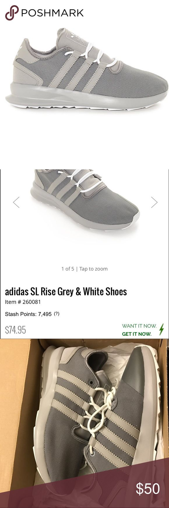 NIB Adidas Originals SL Rise Men's 9. Women's 11.  Never worn Adidas Shoes Sneakers