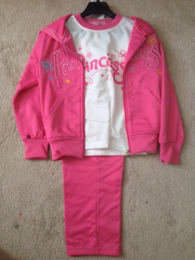 dark pink, 3 piece princess track set