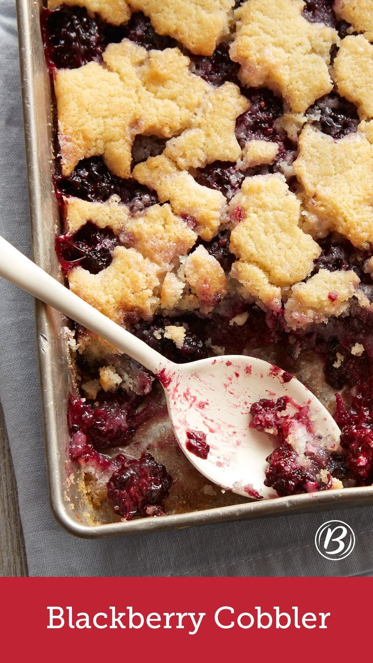 The Blackberry Cobbler recipe to end all Blackberry Cobbler recipes! Seriously, this delicious and summery cobbler is perfect. Make it even more delicious by adding a scoop of vanilla ice cream!