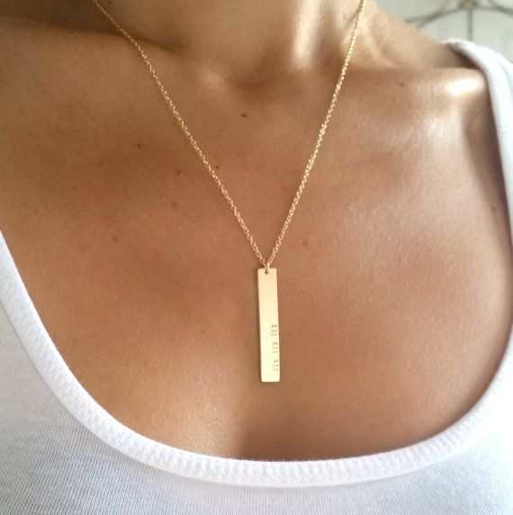 Roman Numeral Necklace Gold Nameplate by GoldCrushJewelry on Etsy