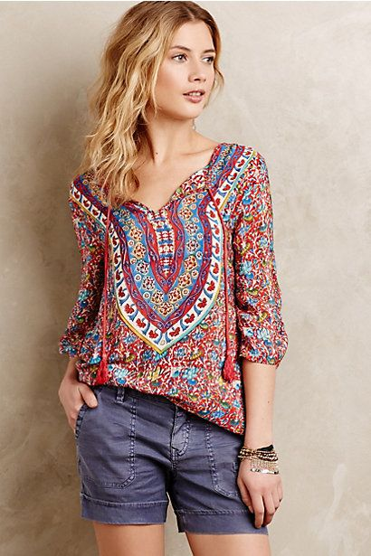 This is right up my alley. Maybe when it goes on clearance... Manori Silk Cover-Up #anthropologie