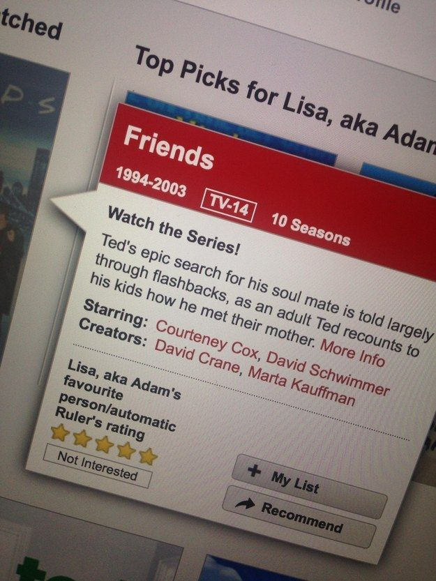 The time that Netflix got confused by how similar a certain show is to Friends.
