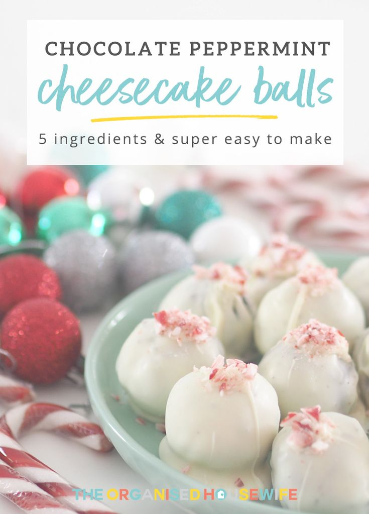 After a bite-sized snack for Christmas Day or an upcoming Christmas party? Chocolate Peppermint Cheesecake Balls are an uber delicious festive treat, not very hard to make and only use 5 ingredients!