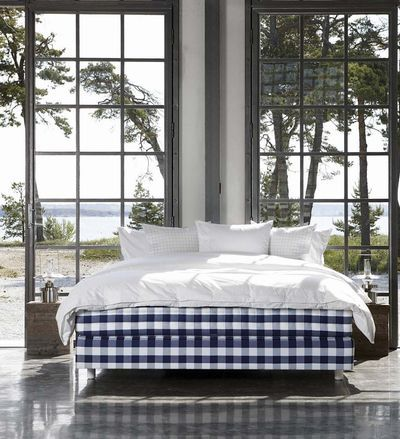 chambre bleue et blanche d co bord de mer random. Black Bedroom Furniture Sets. Home Design Ideas