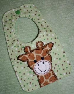 Sale Price   In The Hoop Giraffe Bib Machine Embroidery