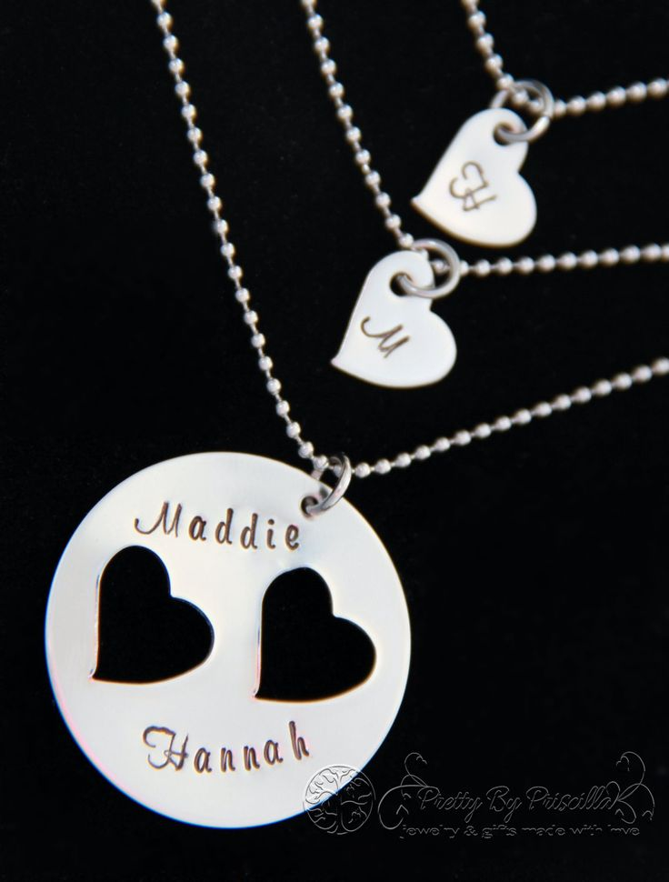 Mother Daughter Necklace Set Mother Daughter by PrettyByPriscilla, $30.00