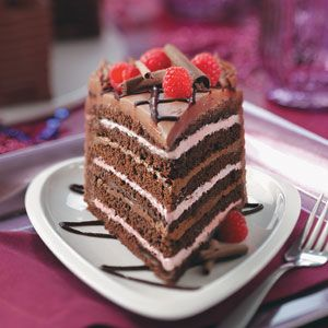 Best Chocolate Raspberry Torte Recipe from Taste of Home