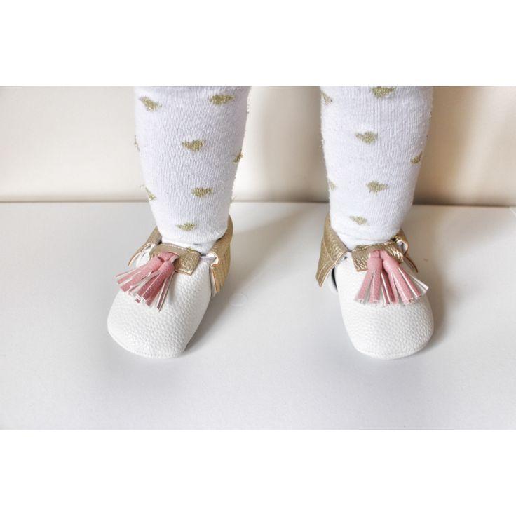 Pink tassel Moccasins baby infant shoes $19.99