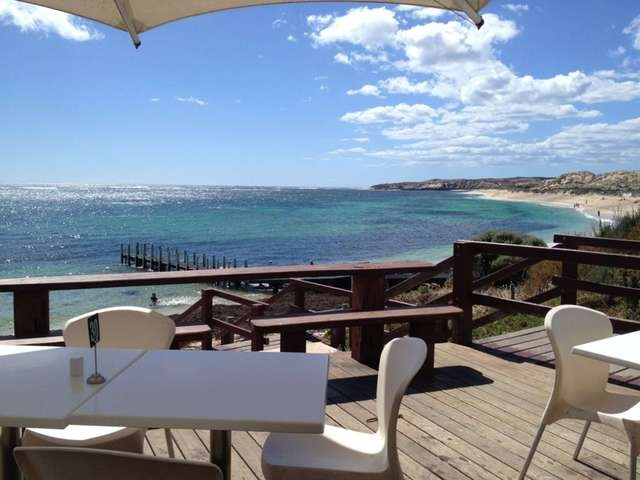 Great view from White Elephant Cafe in Margaret River