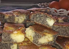 Mákos vanília pudingos bögrés süti